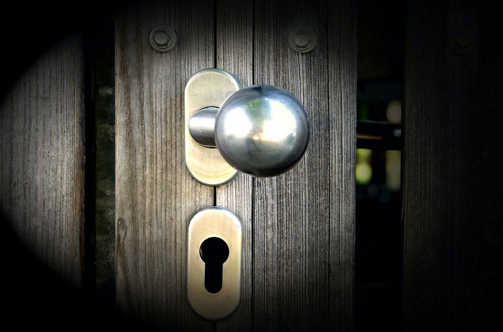 doorknob with a deadbolt lock